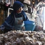 KOMODITAS PANGAN : Pasokan Merosot, Harga Bawang Putih di Pasar Solo Melejit