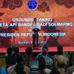 JOKOWI DI SOLO : Presiden Ground Breaking KA di Bandara Adi Soemarmo