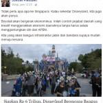 TURN BACK HOAX : Pernyataan Akun Mengatasnamakan Jokowi Soal Disneyland di Boyolali Hoaks!