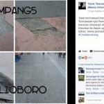INFRASTRUKTUR SEMARANG : Ubin di Simpang Lima Copot, Netizen Sindir Pemkot Semarang