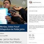 Dilaporkan ke Polisi Atas Dugaan Penipuan, Ustaz Yusuf Mansur Ucapkan Terima Kasih