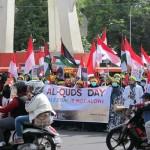 DEMO WARGA : Rayakan Hari Quds, Ratusan Orang Beraksi di Semarang