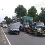 KECELAKAAN BOYOLALI : 6 Kendaraan Kecelakaan Karambol di Pertigaan Wika, 1 Orang Tewas