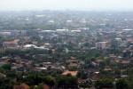 Kepadatan kawasan hunian Kota Solo difoto dari ketinggian gedung bertingkat. (dok Solopos)
