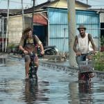 ROB SEMARANG : Pemudik Segera Datang, Genangan Air Dihalau Lagi