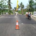 Baru 1,5 Tahun Dibangun, Jembatan Jalur Wonogiri-Pracimantoro Ambles