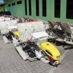 Beberapa peralatan dan mesin pertanian bantuan dari pemerintah pusat di Dinas Pertanian Sragen, Kamis (13/7/2017). (Kurniawan/JIBI/Solopos)