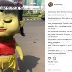 INSTAGRAM ARTIS : Baim Wong Jadi Badut Jalanan, Bikin Takut atau Gemas?