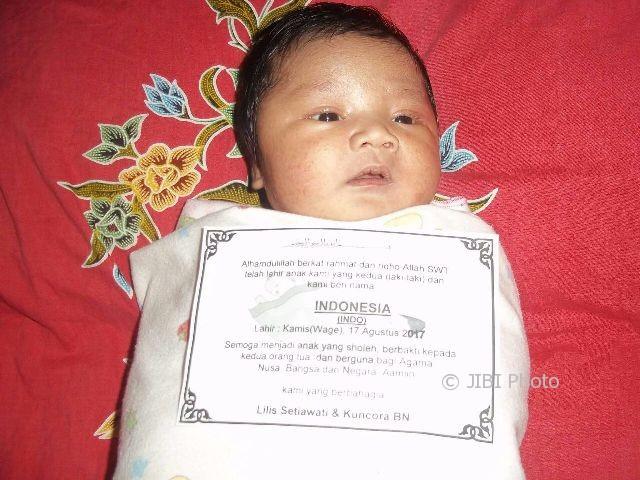 KISAH UNIK : Lahir 17 Agustus, Bayi Boyolali Ini Diberi Nama Indonesia