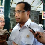 Menteri Perhubungan Budi Karya Sumadi saat melakukan kunjungan ke Gunungkidul, Sabtu (12/8/2017).  (David Kurniawan/JIBI/Harian Jogja)