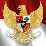 Ilustrasi lambang negara Garuda Pancasila di atas bendera merah putih. (JIBI/Semarangpos.com/Dok.)