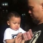 VIDEO UNIK: Diberi Segepok Uang, Anak Ahmad Dhani Langsung Berhenti Nangis