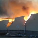 Gudang Delta Merlin di Grogol Sukoharjo Terbakar