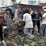 FOTO KECELAKAAN SEMARANG : Dahsyatnya Tabrakan Karambol di Bawen