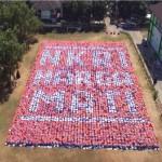 KAMPUS DI SEMARANG : 13 Formasi Paper-Mob UIN Walisongo Catatkan Rekor Muri