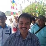 Anggota DPR dari Fraksi Partai Demokrat, Roy Suryo, saat berkunjung di Pantai Watukarung, Pacitan, Sabtu (19/8/2017). (Abdul Jalil/JIBI/Madiunpos.com)
