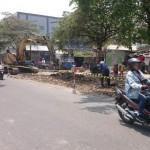PKL KARANGANYAR : 15 Lapak PKL Depan Pasar Klodran Dibongkar untuk Penataan Kawasan