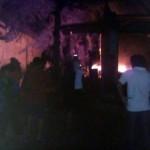 KEBAKARAN SRAGEN : Bengkel Tambal Ban di Kedawung Ludes Dilalap Api