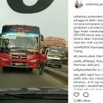 LALU LINTAS DEMAK : Lawan Arus di Demak, Bus Surabaya-Semarang Cuma Dipaksa Mundur