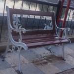 VANDALISME SEMARANG : Duh, Kursi di Kawasan Banjir Kanal Barat Jadi Sasaran Vandalisme