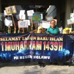 MIN Nglawu Sukoharjo Gelar Pawai Tarhib 1 Muharam dan Aksi Peduli Rohingya