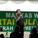 Ketua DPP Partai Bulan Bintang (PBB) Yusril Ihza Mahendra saat menyampaikan pidato politiknya di sela Peresmian Gedung DPW PBB, Sabtu (9/9/2017). (Arief Junianto/JIBI/Harian Jogja)