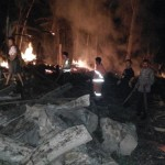 KEBAKARAN TRENGGALEK : Tempat Penggergajian Kayu Milik Kades Pucanganak Ludes Terbakar