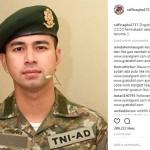 INSTAGRAM ARTIS : Pakai Seragam TNI, Raffi Ahmad Mirip Song Joong Ki?