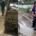 INFRASTRUKTUR DEMAK : Jalan Rusak di Sayung Tak Kunjung Diperbaiki, Kades Jadi Sasaran
