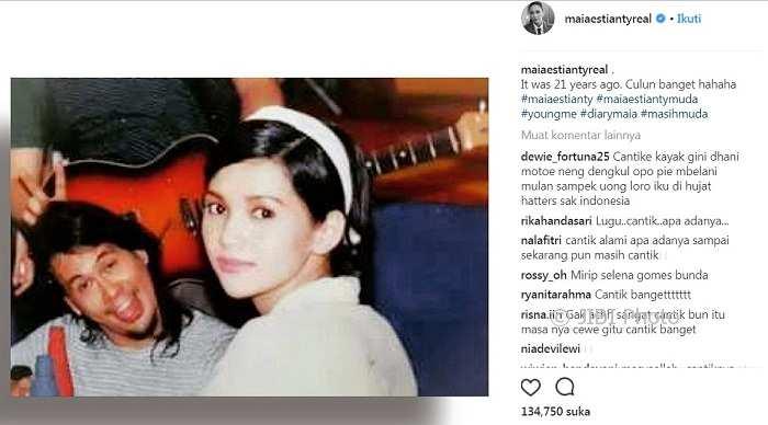 Nyinyirnya Netizen, Bandingkan Foto Masa Lalu Maia Estianty dan Mulan Jameela