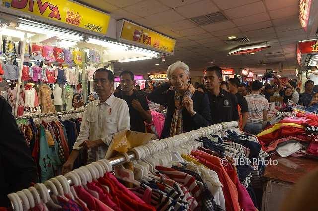 Blusukan Pasar Tanah Abang Jakarta, Bos IMF Terkesima dengan Ini