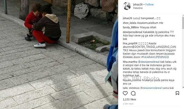 Dewi Perssik Pengin Adopsi Anak Palestina