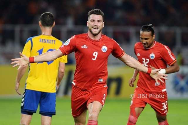 PIALA AFC 2018 : Simic Hat-Trick, Persija Hajar Tampines Rovers 4-1
