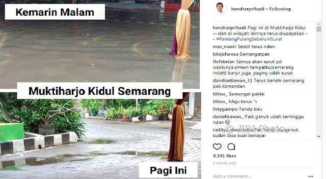BANJIR SEMARANG : Hendi Klaim Banjir di Muktiharjo Surut, Begini Reaksi Warga...