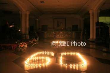 The Rich Jogja Hotel turut mendukung kampanye Earth Hour, Sabtu (24/3/2018). (Foto istimewa)