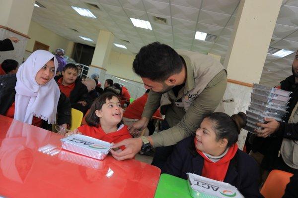 Dapur Umum ACT di Gaza Berikan Keceriaan Anak Down Syndrome