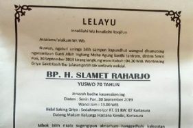 Kabar Duka, Pemilik Warung Bebek H. Slamet Solo Meninggal Dunia
