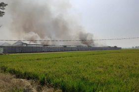 Asap Masih Mengepul di Gudang Sritex Sukoharjo yang Terbakar