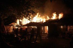 Kebakaran Pasar Nglangon Sragen: 91 Los/Kios Ludes, Kerugian Rp1 Miliar