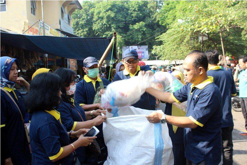 Pasar Bunder Sumbang Sampah Terbanyak di Sragen