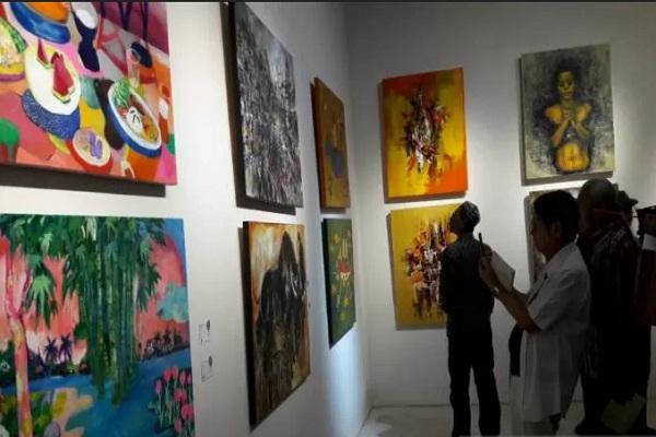 17 Negara Ikuti Pameran Seni Rupa di Borobudur