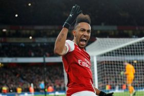Penyerang Arsenal Pierre-Emerick Aubameyang. (Reuters)