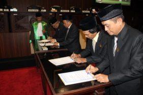 4 Pimpinan DPRD Dilantik, Bupati Sragen Singgung Rapat Sering Molor