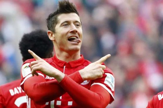 Striker Bayern Munchen Robert Lewandowski. (Reuters/Wolfgang Rattay)