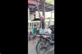 Viral Wanita di Bojonegoro Suruh Kakek-Kakek Ngemis, Penghasilannya Lumayan