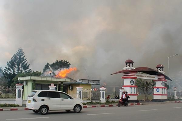 17 Orang Tewas Dalam Kerusuhan Wamena, Terjebak Gedung Terbakar