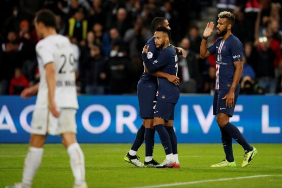 Paris St Germain vs Angers, Parc des Princes, Paris, 5 Oktober 2019.  (Reuters/Christian Hartmann)