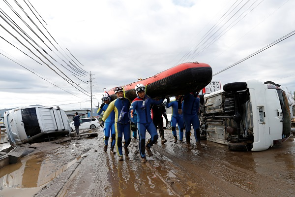 Korban Jiwa Topan Hagibis Jepang Kini 66 Orang
