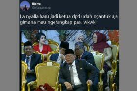 Viral Video La Nyalla Ngantuk Saat Pelantikan Jokowi