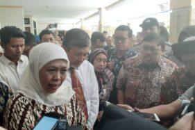 Gubernur Jawa Timur Khofifah Indar Parawansa di RSUD dr. Soedono Madiun, Jumat (11/10/2019). (Abdul Jalil/Madiunpos.com)
